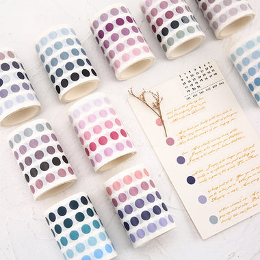 Polka Dot Pastel Color Gradient Washi Tape Style Sticker