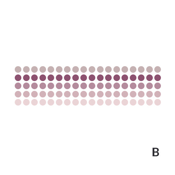 Polka Dot Pastel Color Gradient Washi Tape Style Sticker, B