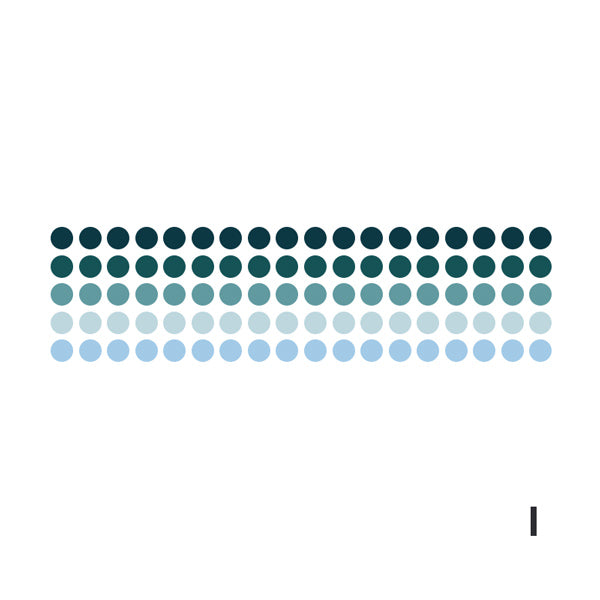 Polka Dot Pastel Color Gradient Washi Tape Style Sticker, I