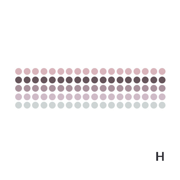 Polka Dot Pastel Color Gradient Washi Tape Style Sticker, H