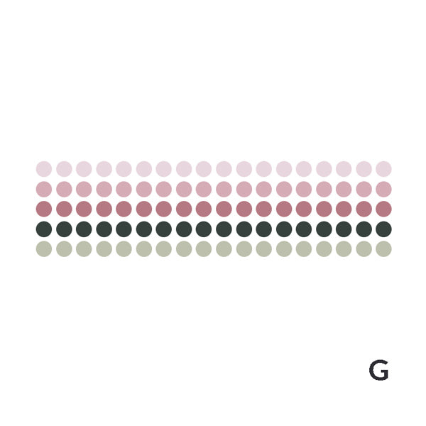 Polka Dot Pastel Color Gradient Washi Tape Style Sticker, G