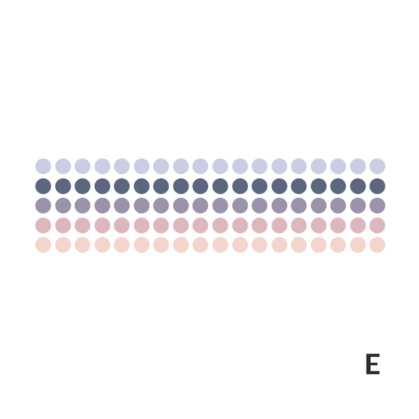 Polka Dot Pastel Color Gradient Washi Tape Style Sticker, E