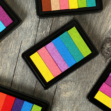 Rainbow Colorful Stamp Ink Pad