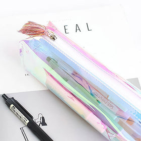 Rainbows Holographic Transparent Pen Case