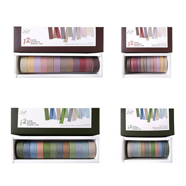Retro Color Gradient Washi Tape 12 Rolls Set
