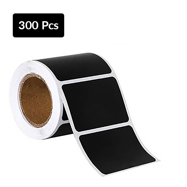 Self Adhesive Sticky Black Labels Roll, Large Roll