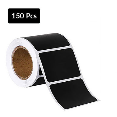 Self Adhesive Sticky Black Labels Roll, Small Roll