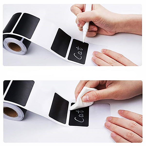 Self Adhesive Sticky Black Labels Roll
