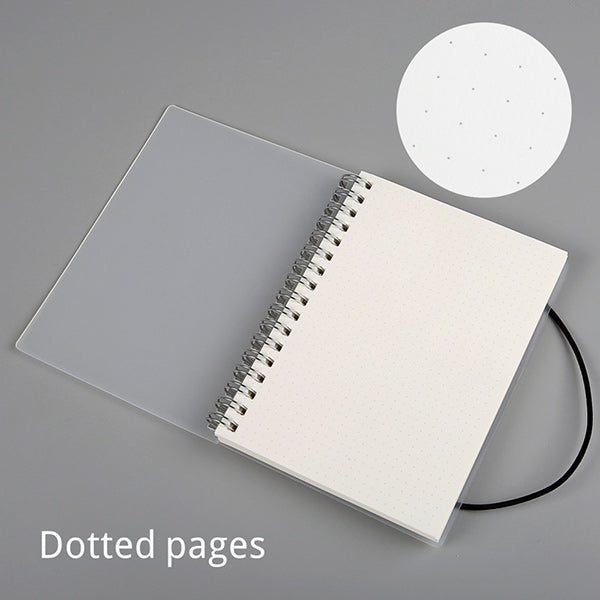 Spiral Bound Notebook Dotted Lined Grid A6/A5/B5, Dotted / A5  210 x 150mm