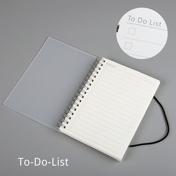 Spiral Bound Notebook Dotted Lined Grid A6/A5/B5, To Do List / A5  210 x 150mm