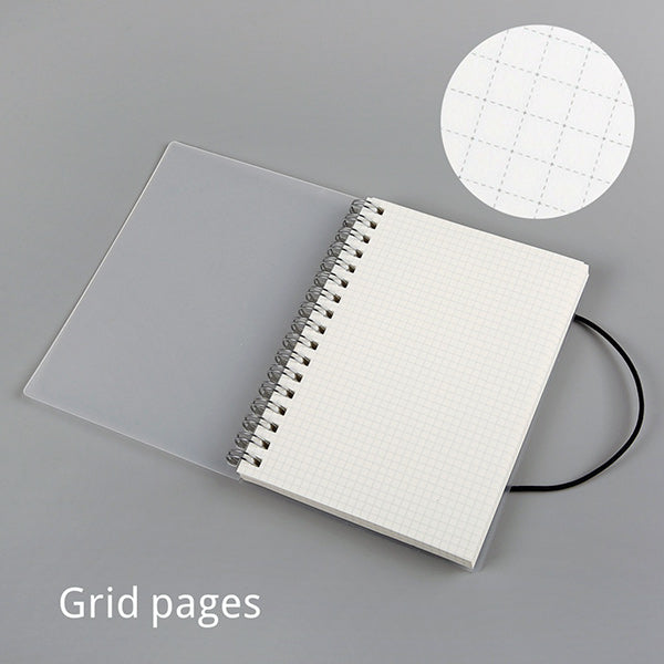 Spiral Bound Notebook Dotted Lined Grid A6/A5/B5, Gridded / A5  210 x 150mm