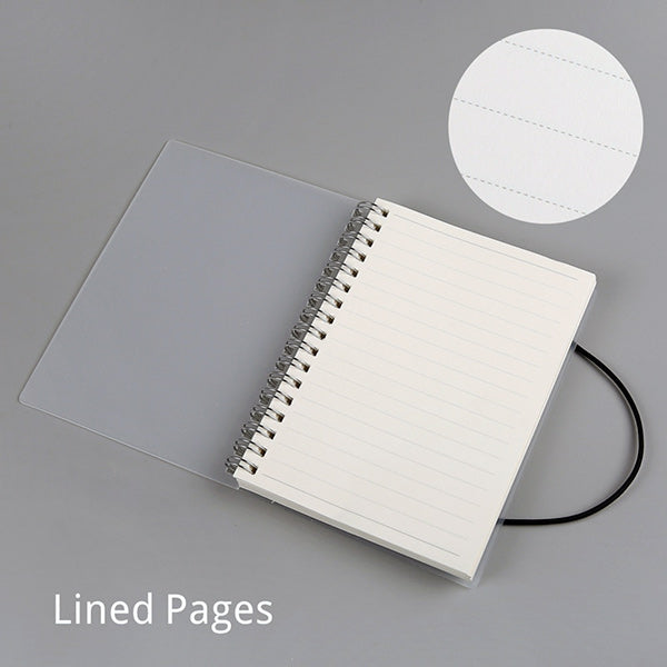 Spiral Bound Notebook Dotted Lined Grid A6/A5/B5, Lined / A5  210 x 150mm