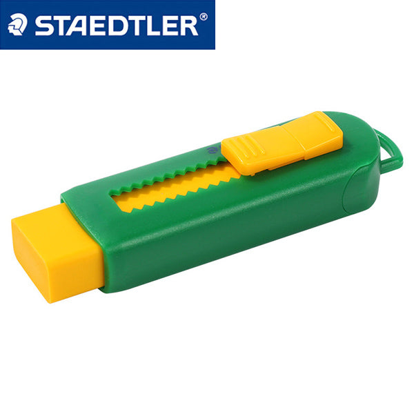 Staedtler Eraser with Sliding Sleeves 525 PS1-S, Green and Orange
