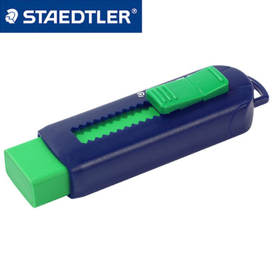 Staedtler Eraser with Sliding Sleeves 525 PS1-S, Blue and Green