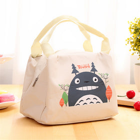 Totoro Insulated Lunch Bag,Cream