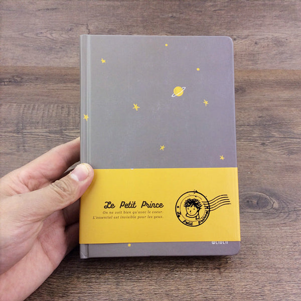 The Little Prince Illustration Thick Page Personal Journal Notebook, Grey