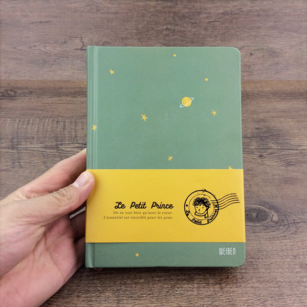 The Little Prince Illustration Thick Page Personal Journal Notebook, Green