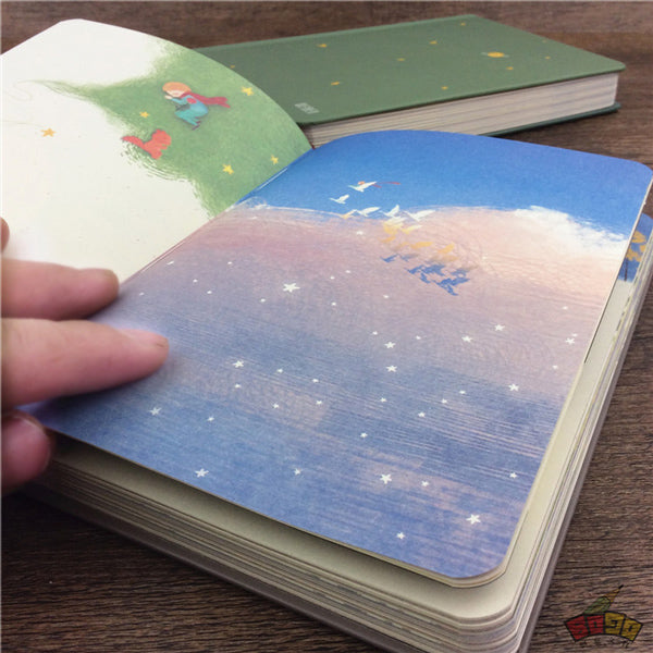 The Little Prince Illustration Thick Page Personal Journal Notebook