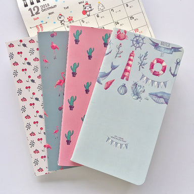 Tiny Blank Page Notebook Planner Pack, All 5 Notebooks Pack