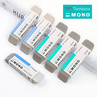 Tombow Mono Sand and Rubber Eraser for Ink and Pencil 2 Pcs Pack