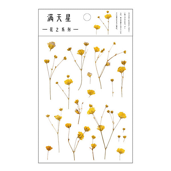 Translucent Botanical Plant Flower Stickers, 2