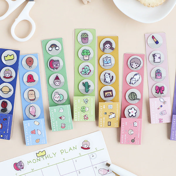 Translucent Kawaii Cartoon Stickers