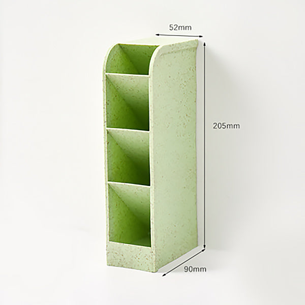 Translucent Pencil Stationery Holder Desk Organizer, Rectangle / Pastel Green