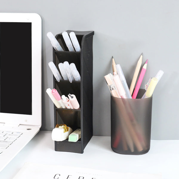 Translucent Pencil Stationery Holder Desk Organizer
