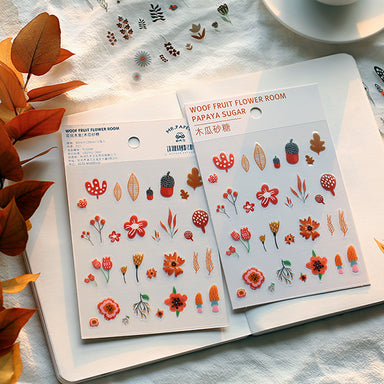 Translucent Seasonal Floral Stickers