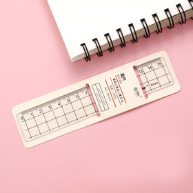 Transparent Pocket Plastic Ruler [Gift]