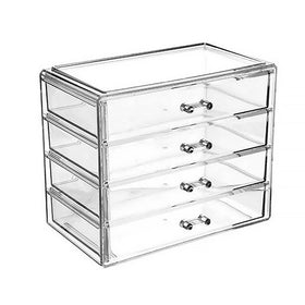 Transparent Acrylic Stationery Organizer With Handle