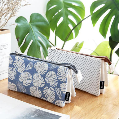 Triple Pouch Dual Zipper Pencil Case