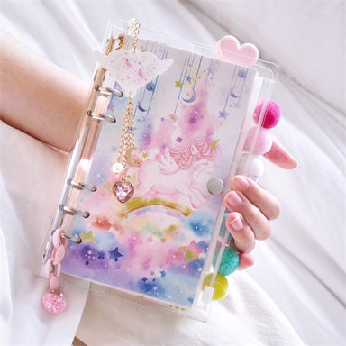 Unicorn Loose Leaf Notebook Binder Bundle, Unicorn / A5 - Large
