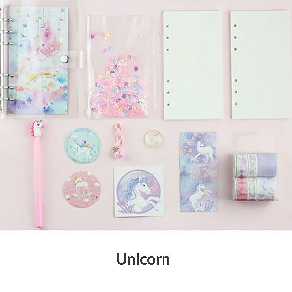 Unicorn Loose Leaf Notebook Binder Bundle, Unicorn / A6 - Small