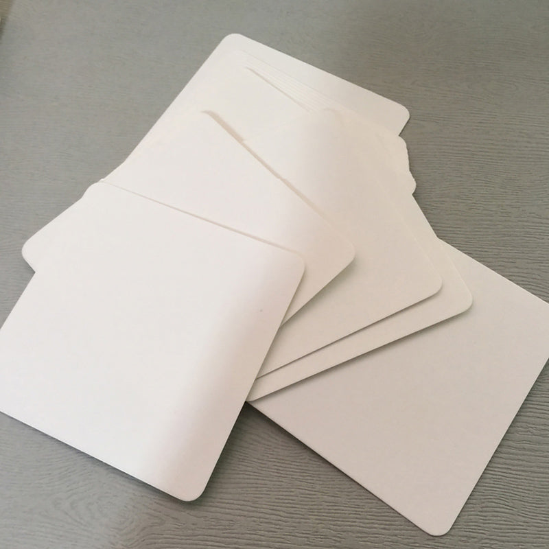 White Blank Memo Card 100 Sheets