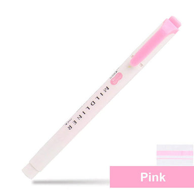 Zebra Mildliner Double-Sided Highlighters Fine Bold 25 Colors, Pink - MP