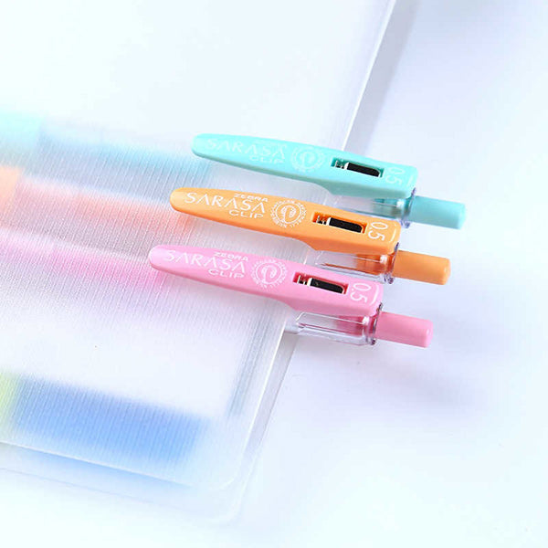 Zebra Sarasa Milk Color Clip Retractable Gel Pen 0.5mm Set