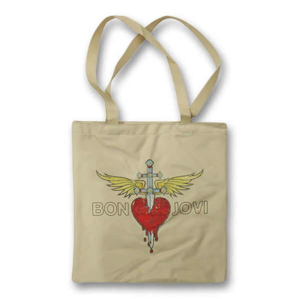 Official Bon Jovi Through The Heart Tote Bag