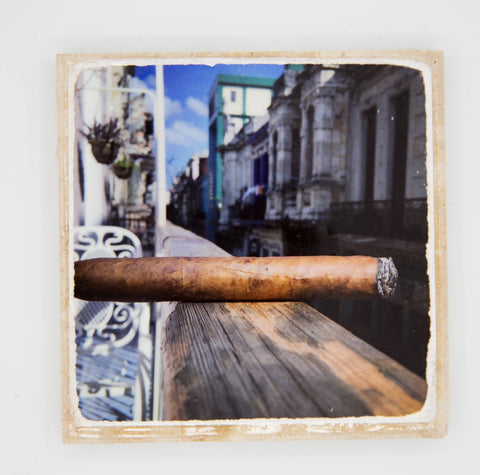 """Cuban in Cuba"" Cigar Inspired Coaster"