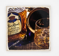 """Crownin"" Whiskey Inspired Coaster"