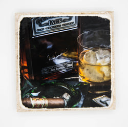 """For Gents Only"" Whiskey Inspired Coaster"