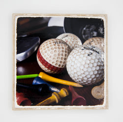 """Golf Balls II"" Golf Inspired Coaster"