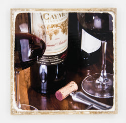 "'Good Times"" Wine Inspired Coaster"