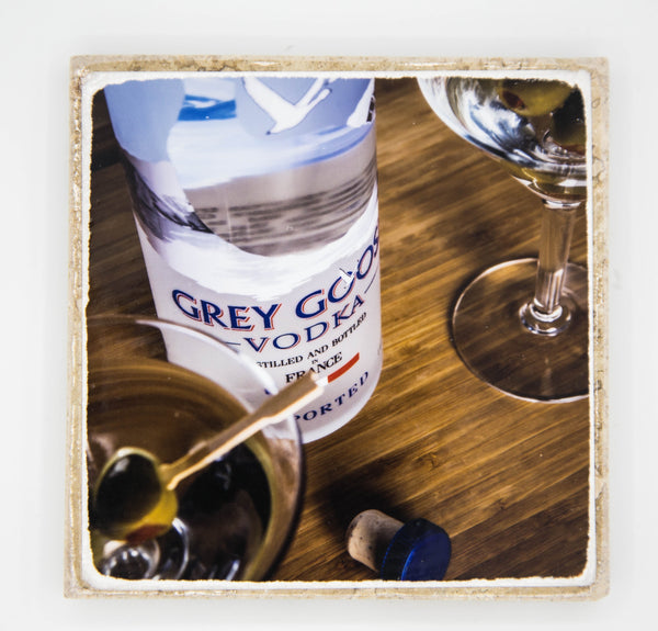 """Goose"" Vodka Inspired Coaster"