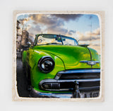 """Green Car"" Cuba Inspired Coaster"