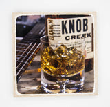 Bourbon coaster, man cave coasters, whiskey, gifts for him