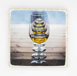 """Infinite II"" Wine Inspired Coaster"
