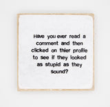 """Fb Comment"""" Coaster"
