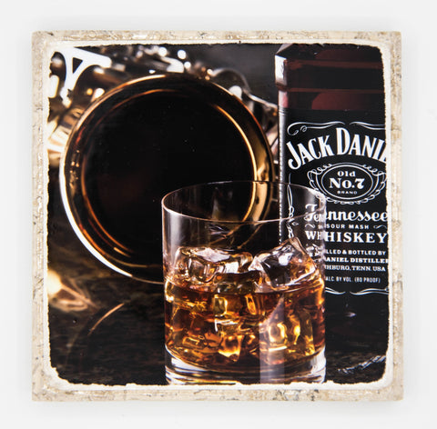 """Jaxophone"" Whiskey Inspired Coaster"