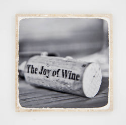 """Joy"" Wine Inspired Coaster"